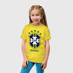 Футболка хлопковая детская Brasil CBF цвета желтый — фото 2