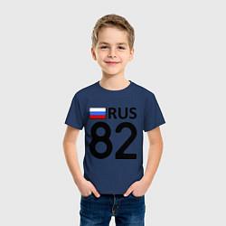 Футболка хлопковая детская RUS 82 цвета тёмно-синий — фото 2