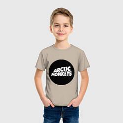 Футболка хлопковая детская Arctic Monkeys Round цвета миндальный — фото 2