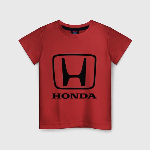 Детская футболка Honda logo / Красный – фото 1