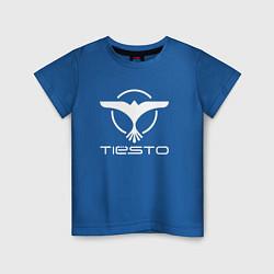 Футболка хлопковая детская Tiesto цвета синий — фото 1