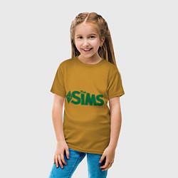 Футболка хлопковая детская Sims цвета горчичный — фото 2