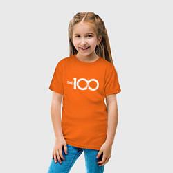 Футболка хлопковая детская The 100 цвета оранжевый — фото 2
