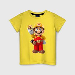 Футболка хлопковая детская Super Mario цвета желтый — фото 1