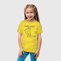 Футболка хлопковая детская 0019 цвета желтый — фото 2