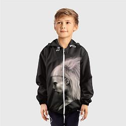 Ветровка с капюшоном детская Die Antwoord GIrl цвета 3D-белый — фото 2