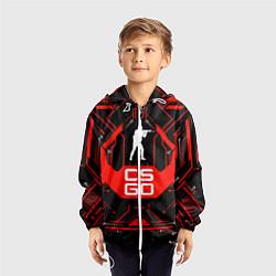 Ветровка с капюшоном детская CS:GO Techno Style цвета 3D-белый — фото 2