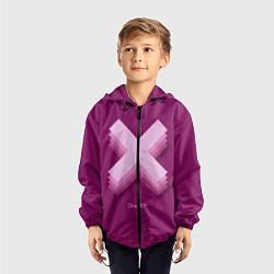 Ветровка с капюшоном детская The XX: Purple цвета 3D-черный — фото 2