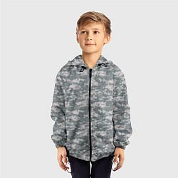 Ветровка с капюшоном детская Пикселька цвета 3D-черный — фото 2