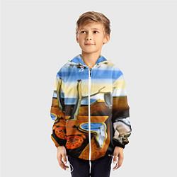 Ветровка с капюшоном детская Постоянство Памяти цвета 3D-белый — фото 2