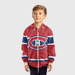 Ветровка с капюшоном детская Montreal Canadiens цвета 3D-белый — фото 2