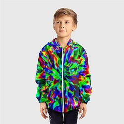 Ветровка с капюшоном детская Оксид красок цвета 3D-белый — фото 2