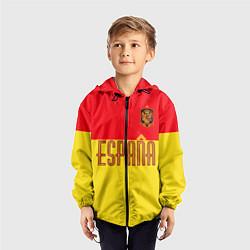 Ветровка с капюшоном детская Сборная Испании: Евро 2016 цвета 3D-черный — фото 2