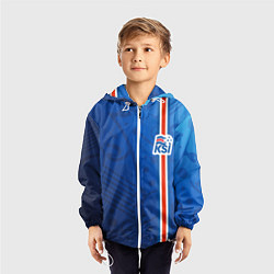 Ветровка с капюшоном детская Сборная Исландии по футболу цвета 3D-белый — фото 2
