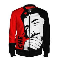 Бомбер мужской Че Гевара цвета 3D-черный — фото 1