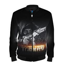 Бомбер мужской ESCAPE FROM TARKOV цвета 3D-черный — фото 1