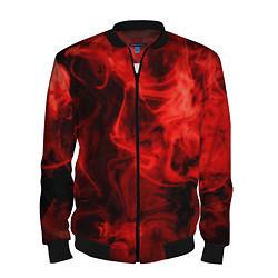 Бомбер мужской Красный дым цвета 3D-черный — фото 1