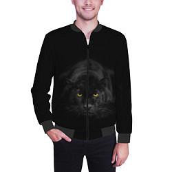Бомбер мужской Пантера цвета 3D-черный — фото 2