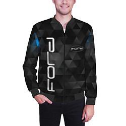 Бомбер мужской FORD цвета 3D-черный — фото 2