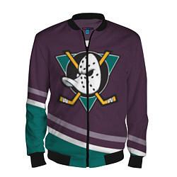 Бомбер мужской Anaheim Ducks Selanne цвета 3D-черный — фото 1