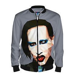 Бомбер мужской Mаrilyn Manson Art цвета 3D-черный — фото 1