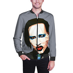 Бомбер мужской Mаrilyn Manson Art цвета 3D-черный — фото 2