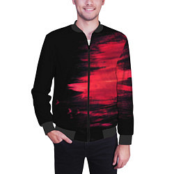Бомбер мужской Краска цвета 3D-черный — фото 2