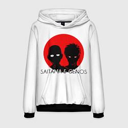Толстовка-худи мужская Saitama & Genos цвета 3D-черный — фото 1