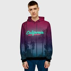 Толстовка-худи мужская California цвета 3D-черный — фото 2