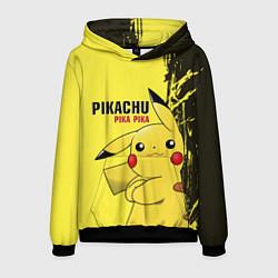 Толстовка-худи мужская Pikachu Pika Pika цвета 3D-черный — фото 1