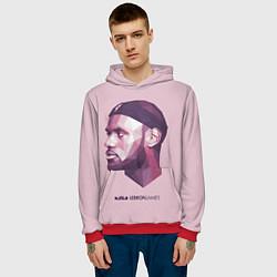 Толстовка-худи мужская LeBron James: Poly Violet цвета 3D-красный — фото 2