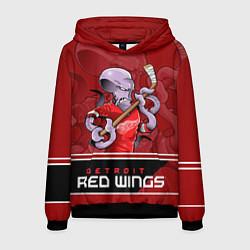 Толстовка-худи мужская Detroit Red Wings цвета 3D-черный — фото 1