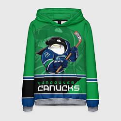 Толстовка-худи мужская Vancouver Canucks цвета 3D-меланж — фото 1