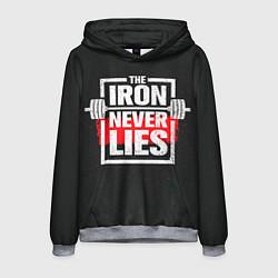 Толстовка-худи мужская The iron never lies цвета 3D-меланж — фото 1