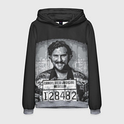 Толстовка-худи мужская Pablo Escobar: Smile цвета 3D-меланж — фото 1