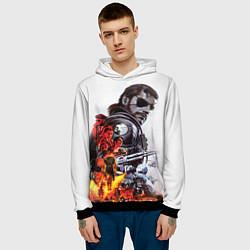 Толстовка-худи мужская Metal gear solid 2 цвета 3D-черный — фото 2