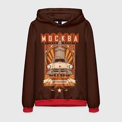 Толстовка-худи мужская Moscow: mother Russia цвета 3D-красный — фото 1