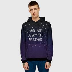 Толстовка-худи мужская Coldplay: Night Sky цвета 3D-черный — фото 2