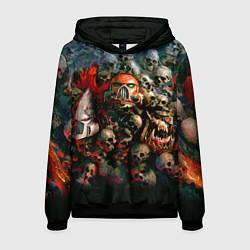 Толстовка-худи мужская Warhammer 40k: Skulls цвета 3D-черный — фото 1