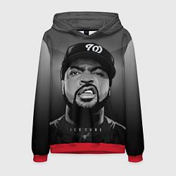 Толстовка-худи мужская Ice Cube: Gangsta цвета 3D-красный — фото 1
