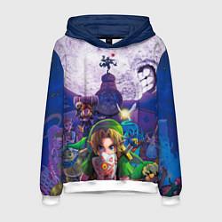 Толстовка-худи мужская The Legend of Zelda цвета 3D-белый — фото 1