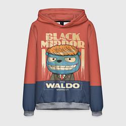 Толстовка-худи мужская Black Mirror: The Waldo цвета 3D-меланж — фото 1