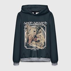 Толстовка-худи мужская Amon Amarth: Raven цвета 3D-меланж — фото 1