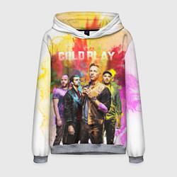 Толстовка-худи мужская Coldplay цвета 3D-меланж — фото 1