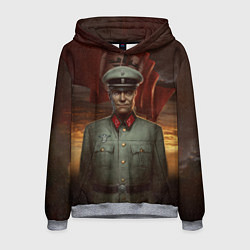 Толстовка-худи мужская Wolfenstein: Wilhelm Strasse цвета 3D-меланж — фото 1
