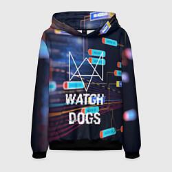 Толстовка-худи мужская Watch Dogs цвета 3D-черный — фото 1