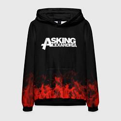 Толстовка-худи мужская Asking Alexandria: Flame цвета 3D-черный — фото 1