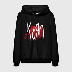 Толстовка-худи мужская Korn: Blood цвета 3D-черный — фото 1