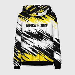 Толстовка-худи мужская Rainbow Six Siege: Yellow цвета 3D-черный — фото 1