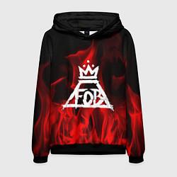 Толстовка-худи мужская Fall Out Boy: Red Flame цвета 3D-черный — фото 1
